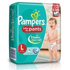 Pampers Baby Dry Pants - Large (9-14Kgs)