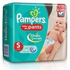 Pampers Baby Dry Pants - Small (4-8Kgs)