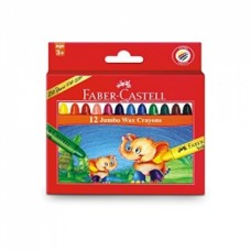 Faber-Castell 12 Jumbo Wax Crayons
