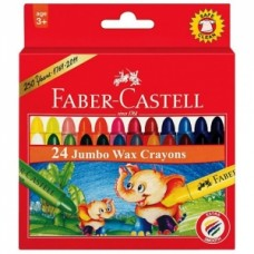 Faber-Castell 24 Jumbo Wax Crayons