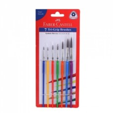 Faber-Castell 7 Tri-Grip Brushes