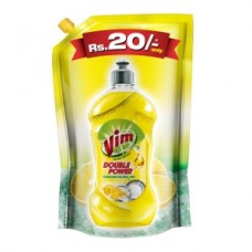 Vim Drop Dishwash Active Gel - Lemon (Pouch)